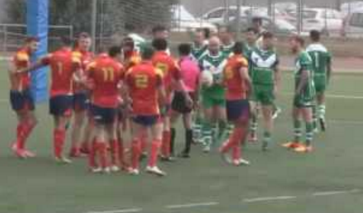 Irish player hands opponent a red card