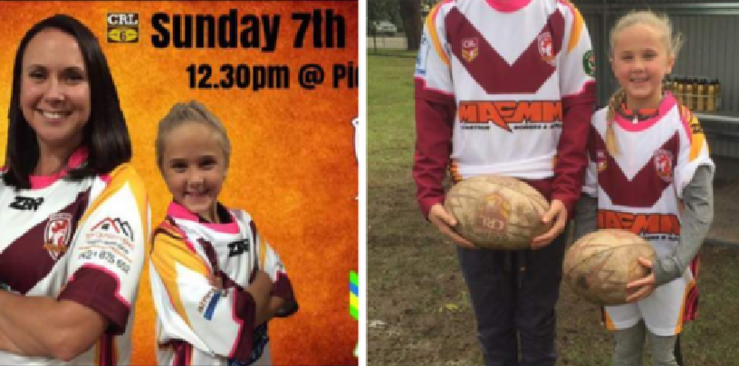 Political correctness gone mad as little girl booted from footy field for running the kicking tee