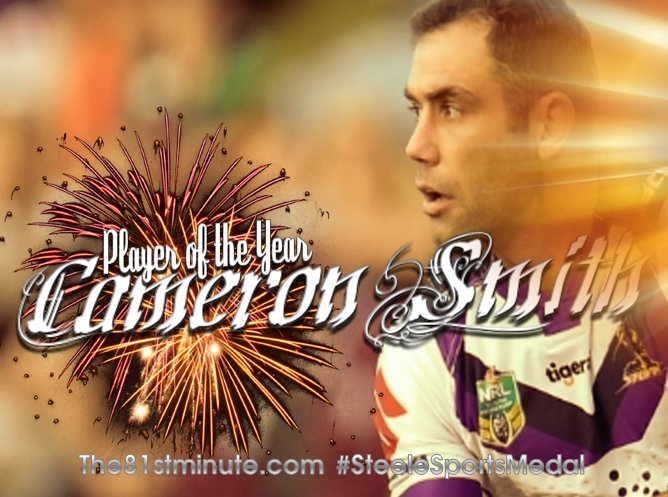 Cameron Smith wins Steele Sports Medal