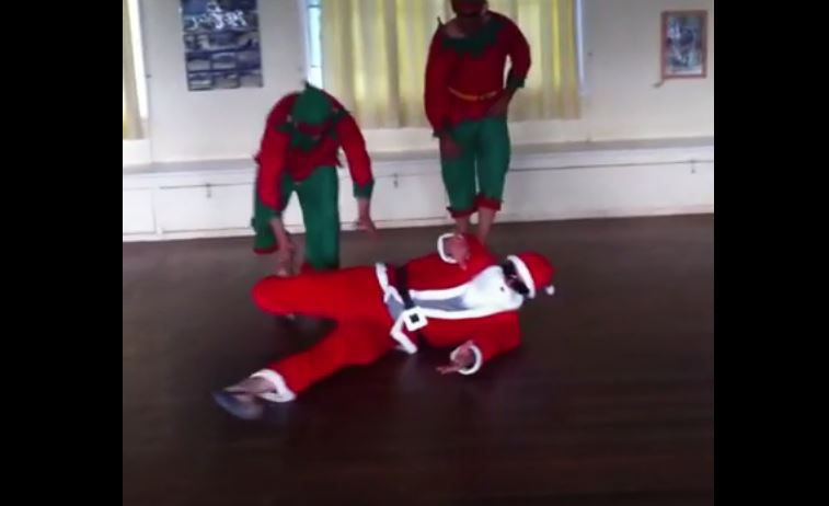 WATCH: Storm cult hero Kirk Reynoldson as break dancing Santa