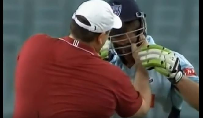 WATCH: When Joey switched the footy for a cricket bat