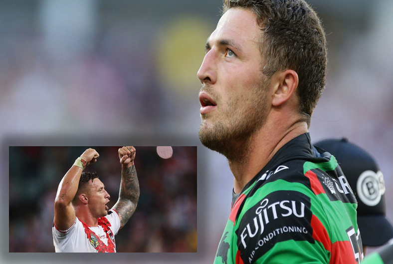 Sam Burgess once offered Tariq Sims into the car park in front of full dressing room