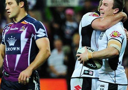 WATCH: The Warriors have a funny knack of winning big games against Storm in Melbourne