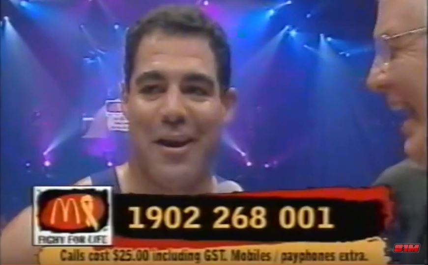 WATCH: Mal Meninga vs AFL's Mark Jackson in charity boxing bout