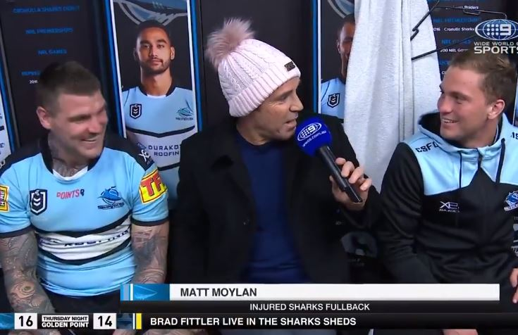WATCH: Matty Moylan forgets he's on TV and tells Freddy Fittler to 'f*** off'