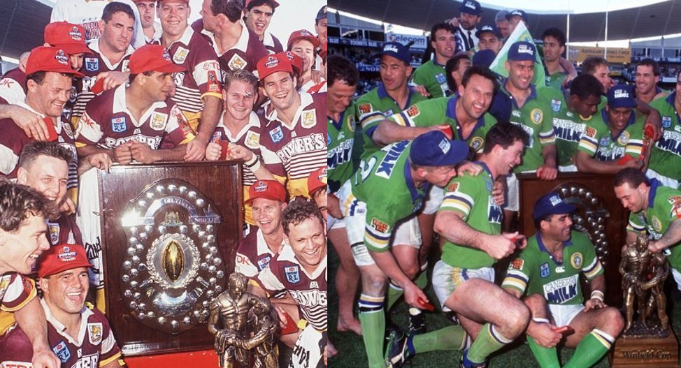 The grand final we never got: Who wins? Brisbane Broncos 1993 or Canberra Raiders 1994?